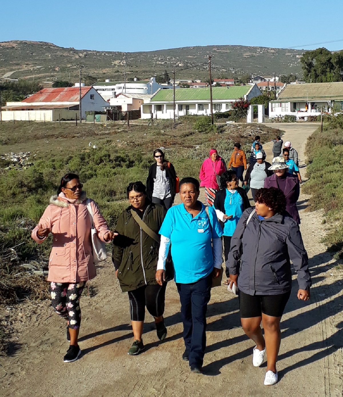 Fisher Ladies Walking To The Beach At St Helena Bay